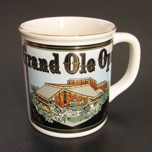 Grand Ole Opry Coffee Mug White Ceramic NEW